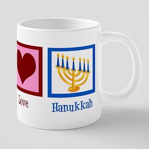 Peace Love Hanukkah 20 oz Ceramic Mega Mug
