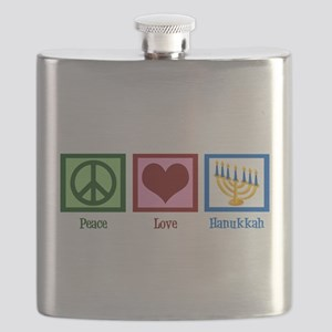 Peace Love Hanukkah Flask