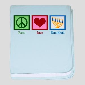 Peace Love Hanukkah baby blanket