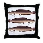 African Sharptooth Catfish Throw Pillow