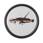African Sharptooth Catfish Large Wall Clock
