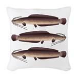 African Sharptooth Catfish Woven Throw Pillow