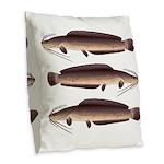 African Sharptooth Catfish Burlap Throw Pillow