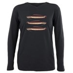 African Sharptooth Catfish Plus Size Long Sleeve T