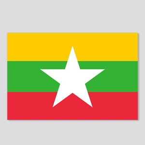 Myanmar Burma National Flag Postcards (Package of