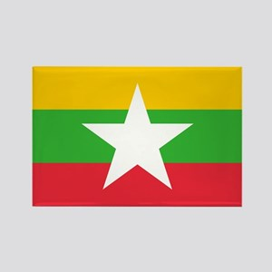 Myanmar Burma National Flag Magnets