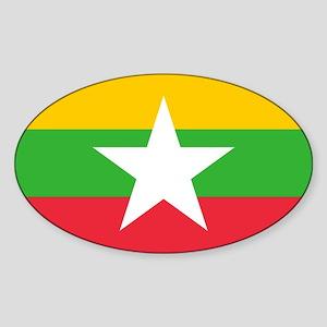Myanmar Burma National Flag Sticker