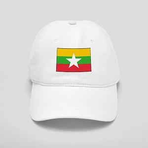 Myanmar Burma National Flag Baseball Cap