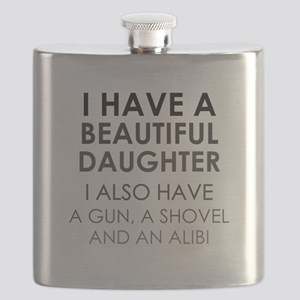 I HAVE A BEAUTIFUL DAUGHTER Flask