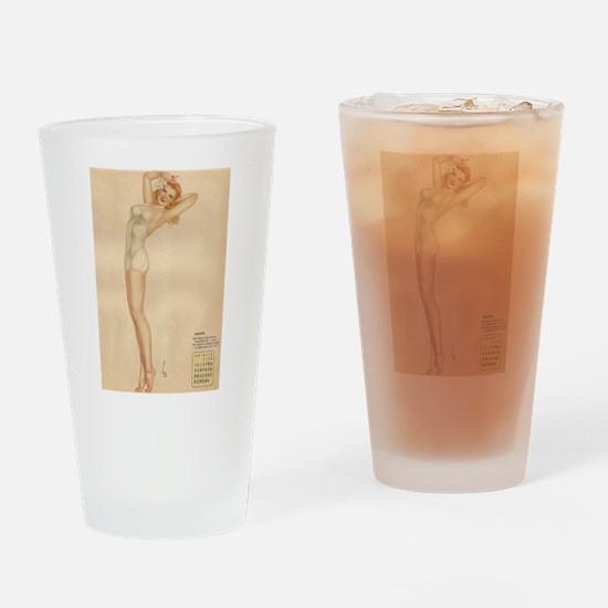 August blond pin-up Drinking Glass