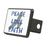 Peace Love Faith Rectangular Hitch Cover