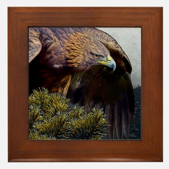 Golden Eagle Framed Tile