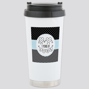 3rd Anniversary Gift Fo Stainless Steel Travel Mug