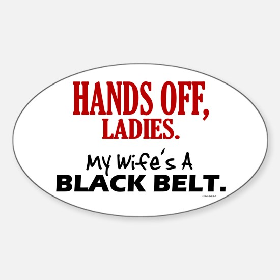 Hands Off Ladies 1 Oval Decal