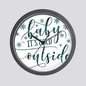 Baby its cold Wall Clock
