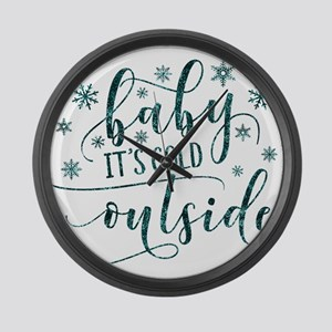 Baby its cold Large Wall Clock