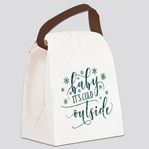 Baby its cold Canvas Lunch Bag