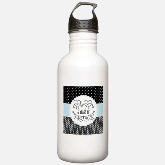 6th Anniversary Gift F Water Bottle
