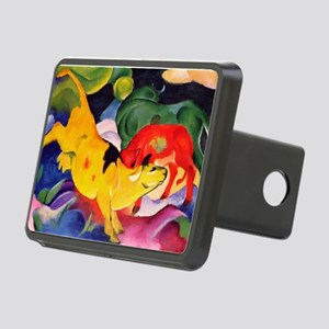 Yellow Cow Rectangular Hitch Cover