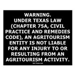 Texas Agritourism Liability Relief Small Poster