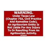 Texas Agritourism Liability Mini Poster Print