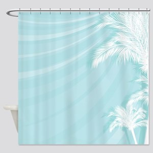 Tropical Breeze Aqua Shower Curtain