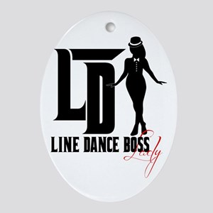 Line Dance Boss Lady Style 3 Oval Ornament