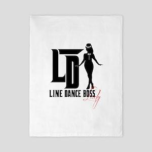 Line Dance Boss Lady Style 3 Twin Duvet