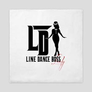 Line Dance Boss Lady Style 3 Queen Duvet