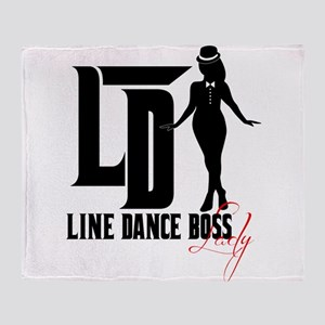 Line Dance Boss Lady Style 3 Throw Blanket