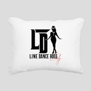 Line Dance Boss Lady Sty Rectangular Canvas Pillow