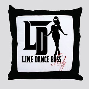 Line Dance Boss Lady Style 3 Throw Pillow