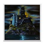 Dam Dirty Dracula Castle Tile Coaster