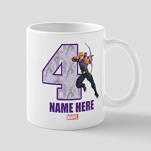 Personalized Hawkeye Age 4 Mug
