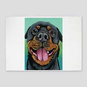 Rottweiler Dog 5'x7'Area Rug