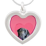 Black Labrador Heart Dog Necklaces