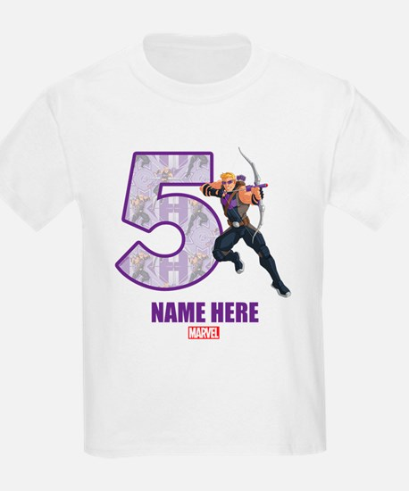 Personalized Hawkeye Age 5 T-Shirt