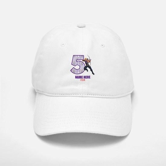 Personalized Hawkeye Age 5 Baseball Baseball Cap
