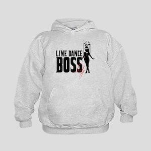 Line Dance Boss Lady Style 1 Kids Hoodie