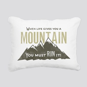 Mountain Runner Rectangular Canvas Pillow