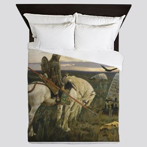 The knight at the crossroads Queen Duvet
