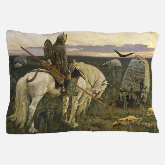 The knight at the crossroads Pillow Case