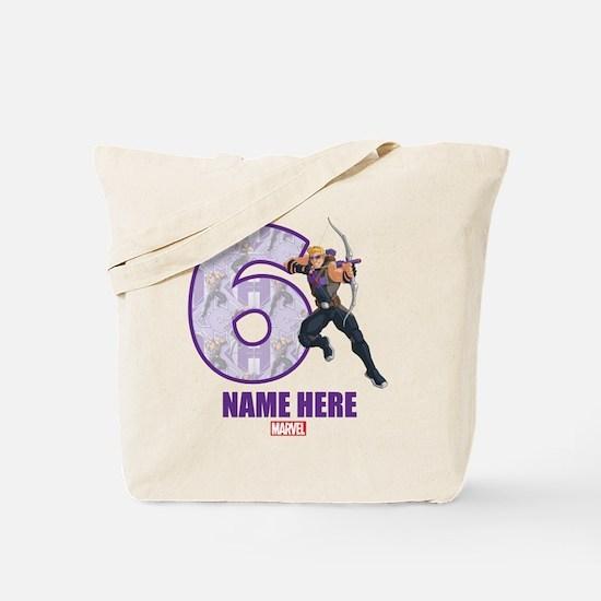 Personalized Hawkeye Age 6 Tote Bag