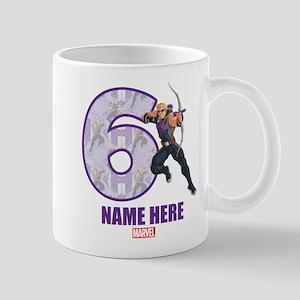 Personalized Hawkeye Age 6 Mug