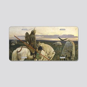 The knight at the crossroads Aluminum License Plat