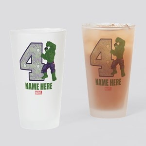 Personalized Hulk Age 4 Drinking Glass