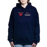 Kiss Me Farmer Women's Hooded Sweatshirt