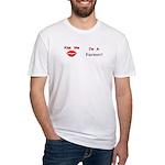 Kiss Me Farmer Fitted T-Shirt