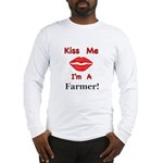 Kiss Me Farmer Long Sleeve T-Shirt