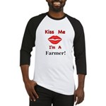 Kiss Me Farmer Baseball Jersey